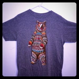 Men's Large Tribal Kodiak Bear Tee